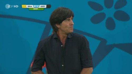 Joachim Löw – Brazil v Germany – 1st half 10
