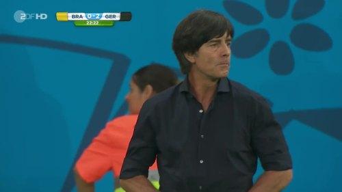 Joachim Löw – Brazil v Germany – 1st half 11