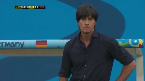 Joachim Löw – Brazil v Germany – 1st half 2