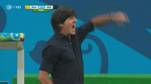Joachim Löw – Brazil v Germany – 1st half 6