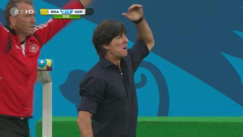 Joachim Löw – Brazil v Germany – 1st half 7