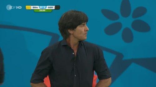Joachim Löw – Brazil v Germany – 1st half 8