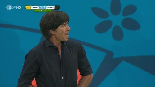 Joachim Löw – Brazil v Germany – 1st half 9