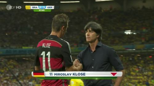 Joachim Löw – Brazil v Germany – 2nd half 1