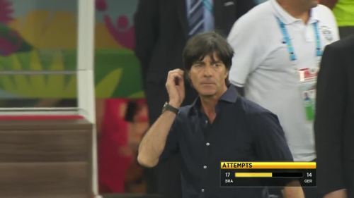 Joachim Löw – Brazil v Germany – 2nd half 13