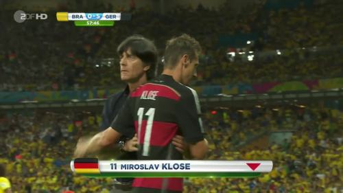 Joachim Löw – Brazil v Germany – 2nd half 2