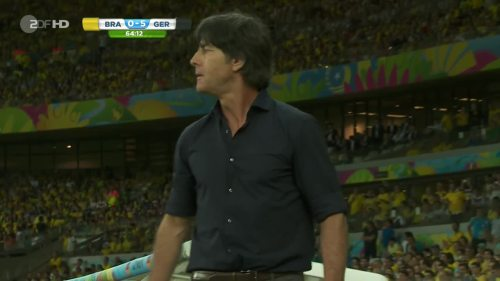 Joachim Löw – Brazil v Germany – 2nd half 8
