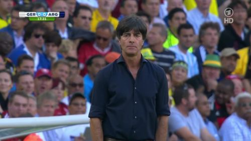 Joachim Löw – Germany v Argentina – 1st half 1