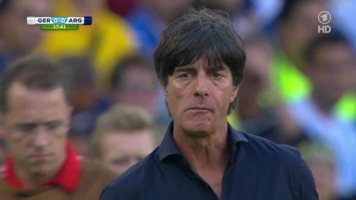 Joachim Löw – Germany v Argentina – 1st half 2