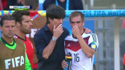 Joachim Löw – Germany v Argentina – 1st half 4