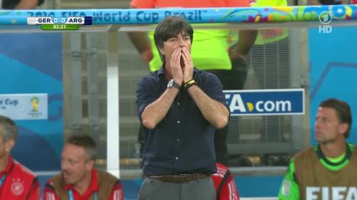 Joachim Löw – Germany v Argentina – 2nd half 1