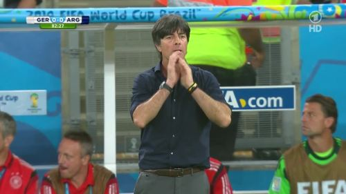 Joachim Löw – Germany v Argentina – 2nd half 2