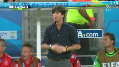 Joachim Löw – Germany v Argentina – 2nd half 3