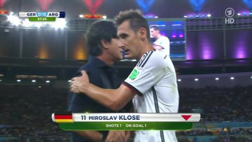 Joachim Löw – Germany v Argentina – 2nd half 5