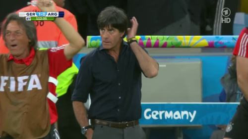 Joachim Löw – Germany v Argentina – extra time 11