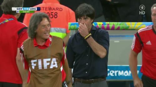 Joachim Löw – Germany v Argentina – extra time 12
