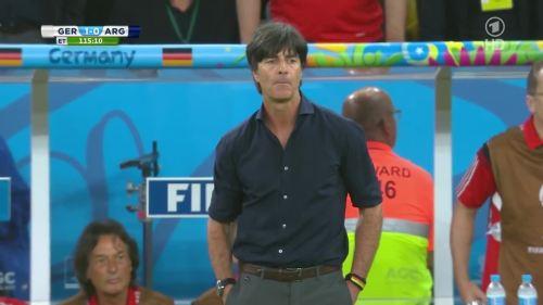 Joachim Löw – Germany v Argentina – extra time 13