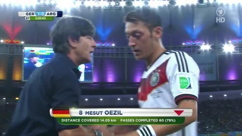 Joachim Löw – Germany v Argentina – extra time 15