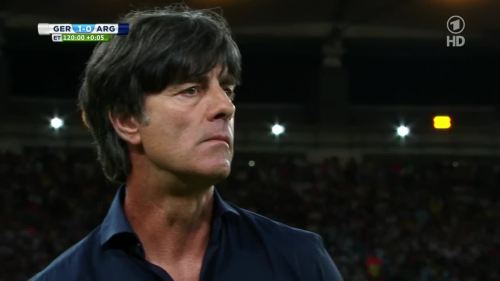 Joachim Löw – Germany v Argentina – extra time 16