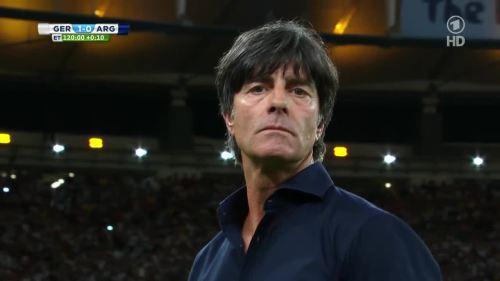 Joachim Löw – Germany v Argentina – extra time 20