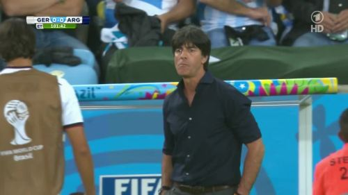 Joachim Löw – Germany v Argentina – extra time 3