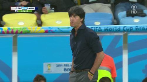 Joachim Löw – Germany v Argentina – extra time 4