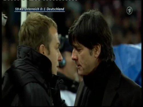 Joachim Löw & Hansi Flick – Austria v Germany 10