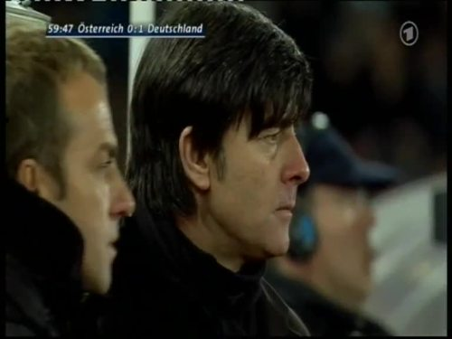 Joachim Löw & Hansi Flick – Austria v Germany 13