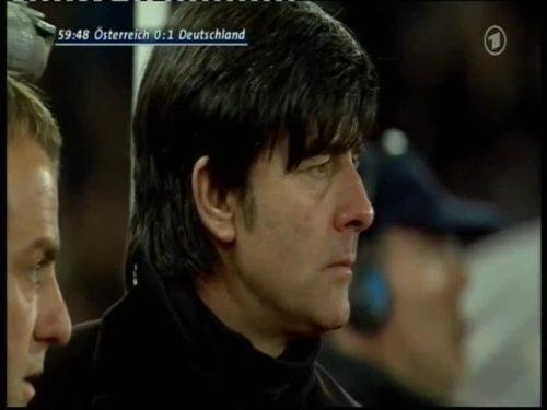 Joachim Löw & Hansi Flick – Austria v Germany 14