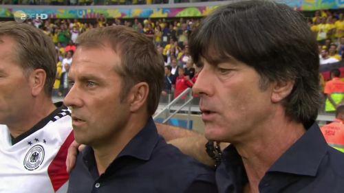 Joachim Löw & Hansi Flick – Brazil v Germany – 1st half 1