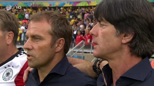 Joachim Löw & Hansi Flick – Brazil v Germany – 1st half 2