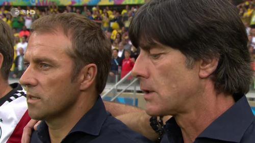 Joachim Löw & Hansi Flick – Brazil v Germany – 1st half 3
