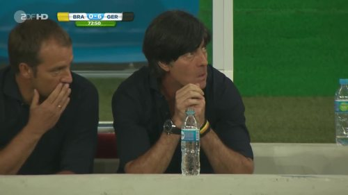Joachim Löw & Hansi Flick – Brazil v Germany – 2nd half 1