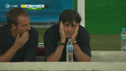 Joachim Löw & Hansi Flick – Brazil v Germany – 2nd half 2