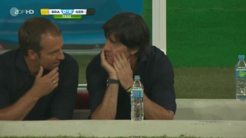 Joachim Löw & Hansi Flick – Brazil v Germany – 2nd half 3