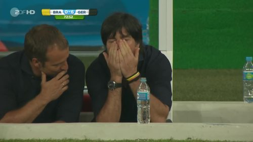 Joachim Löw & Hansi Flick – Brazil v Germany – 2nd half 4