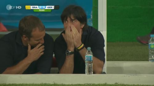 Joachim Löw & Hansi Flick – Brazil v Germany – 2nd half 5