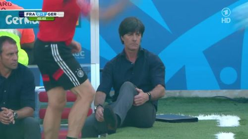 Joachim Löw & Hansi Flick – France v Germany 11