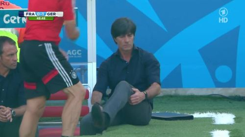Joachim Löw & Hansi Flick – France v Germany 12