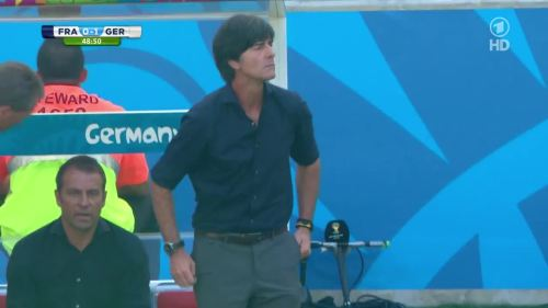 Joachim Löw & Hansi Flick – France v Germany 13