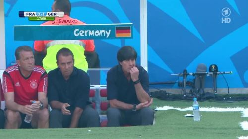 Joachim Löw & Hansi Flick – France v Germany 4