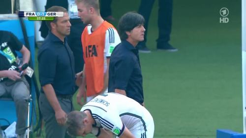 Joachim Löw & Hansi Flick – France v Germany 6