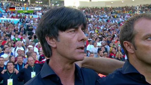 Joachim Löw & Hansi Flick – Germany v Argentina – 1st half 1