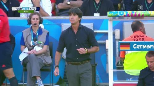 Joachim Löw & Hansi Flick – Germany v Argentina – 1st half 2