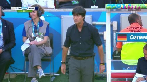 Joachim Löw & Hansi Flick – Germany v Argentina – 1st half 4
