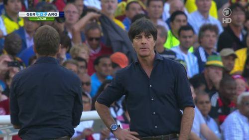 Joachim Löw & Hansi Flick – Germany v Argentina – 1st half 5