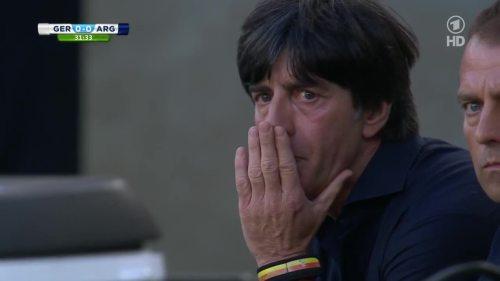 Joachim Löw & Hansi Flick – Germany v Argentina – 1st half 6