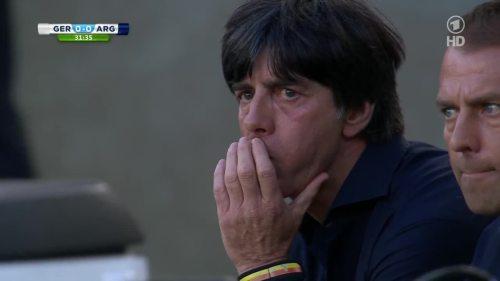 Joachim Löw & Hansi Flick – Germany v Argentina – 1st half 7