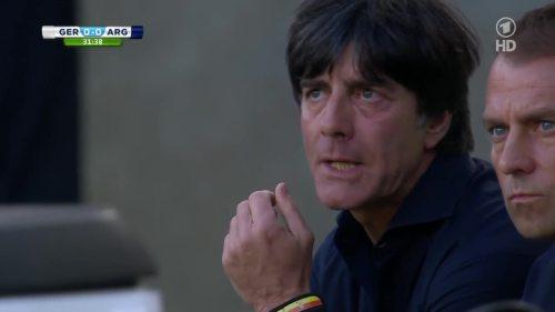 Joachim Löw & Hansi Flick – Germany v Argentina – 1st half 8