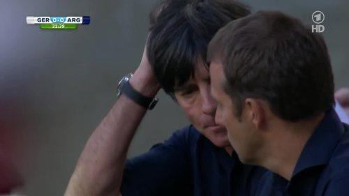 Joachim Löw & Hansi Flick – Germany v Argentina – 1st half 9
